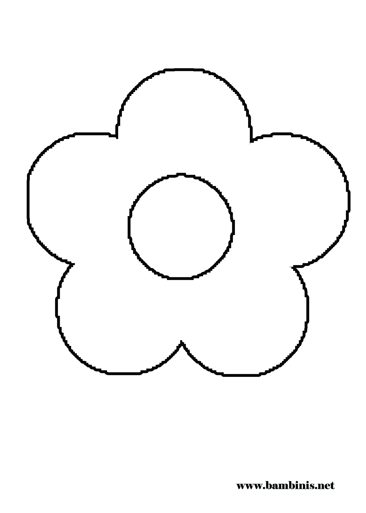 coloring pages flower petals - photo#7