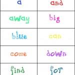 sightwords Pre-primer1