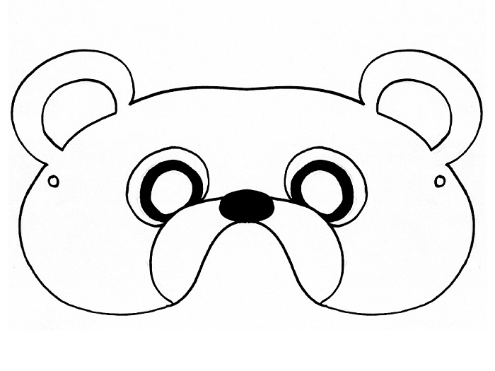 Bewitching image with regard to printable bear mask