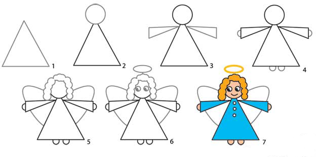 How to draw: Santa, Reindeer and Angel