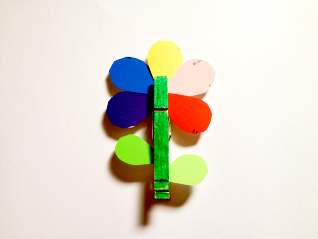 paint chip flower
