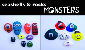 shells and rocks monsters