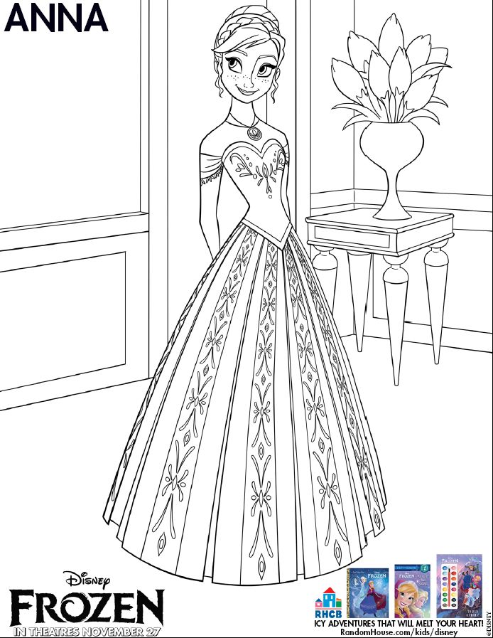 Frozen-coloring-page