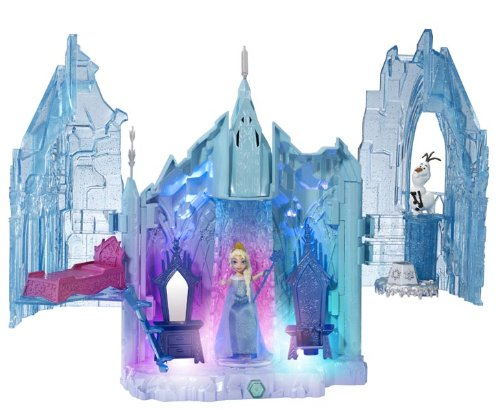 frozen castle and elsa